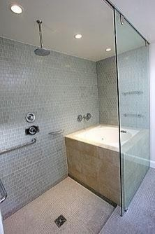 deep tub  Tub Shower Combo Design Pictures Remodel Decor and Ideas 22 best Deep shower combo images on Pinterest Bathroom ideas