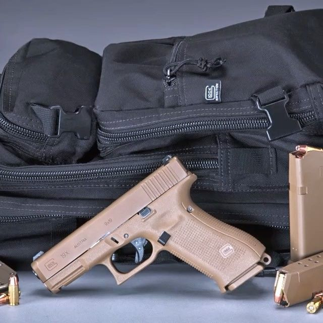 What do you get when you cross a Glock 17 frame and a Glock 19 slide? Glock's G19X pistol. Full video @YouTube.com/fmgpubs #glock #g19x #2a #igmilitia #pewpew #righttobeararms