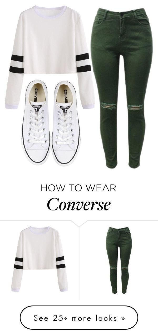 """Sin título #370"" by feelsxharry on Polyvore featuring Converse"