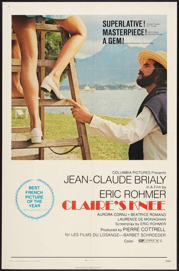 CLAIRE'S KNEE (by Eric Rohmer)