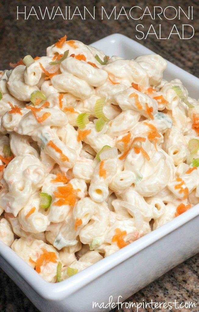 This Hawaiian Macaroni Salad Recipe is for the authentic polynesian stye of macaroni salad. Perfect for summer BBQs, picnics and pot lucks!