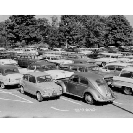 USA New York White Plains Parking area for employees of General Food Corporation Canvas Art - (18 x 24)
