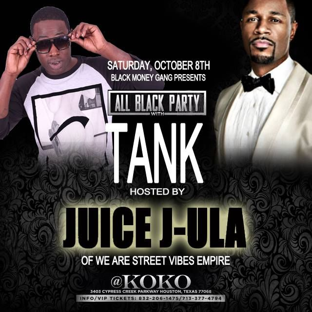 COME AND VIBE WITH US!!!! ALL BLACK PARTY WITH @therealtank! @richboy_angelz_bmg BIRTHDAY BASH this Saturday, October 8, 2016! With Special Appearances of @_juice_jula and #RICKB with #WEARESTREETVIBES #WEARESTREETCANDY EMPIRE!! @KOKO 3403 Cypress Creek Parkway, Houston, Texas. Doors Open @ 7pm! Get your Ticket NOW! #wearestreetvibes #Empire #AllBlackParty #Tank #Tai #Baby #CelebrityBirthdayBash #JuiceJULA #RickB #SkyTheGoddess #Wearestreetcandy #sv #BlackMoneyGang #MoneyKingz #PowerPlays…