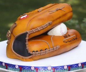 3D Baseball Glove Cake