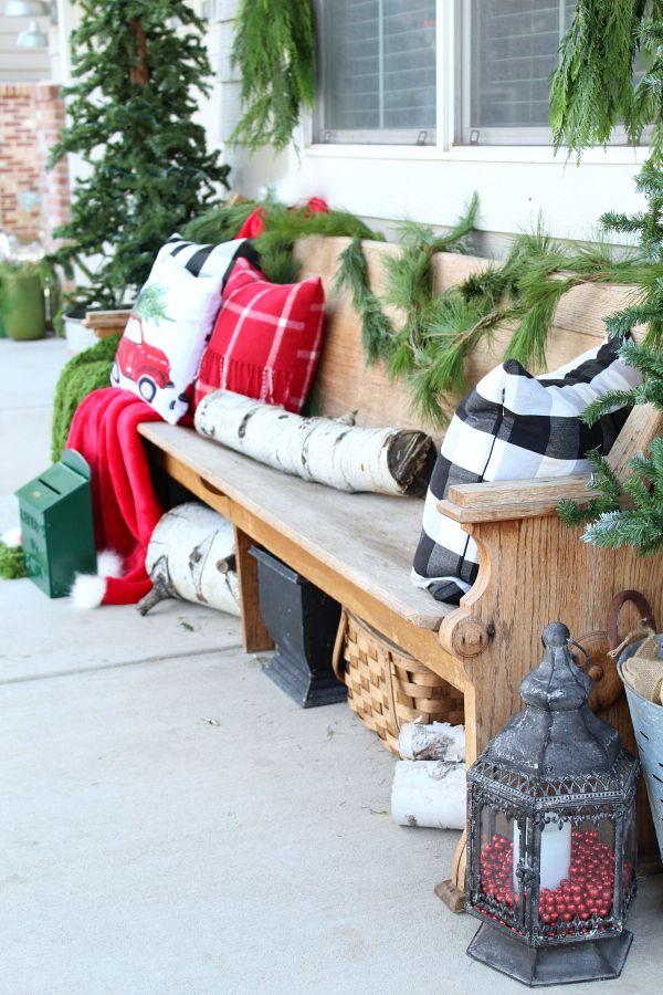 Our Cozy Christmas Porch Christmas Porch Christmas Garden