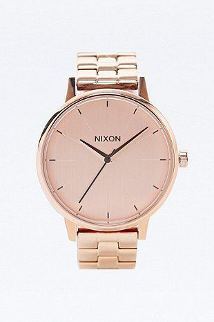 Nixon - Montre Kensington or rose