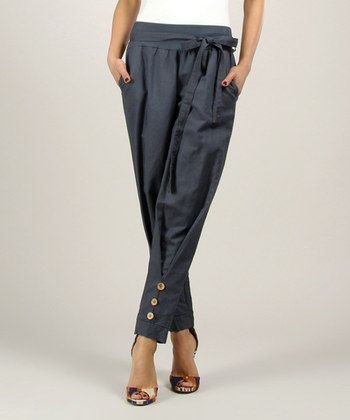 Black Linen Pants   something special every day