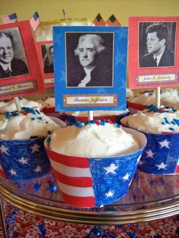 A presidents birthday party theme.