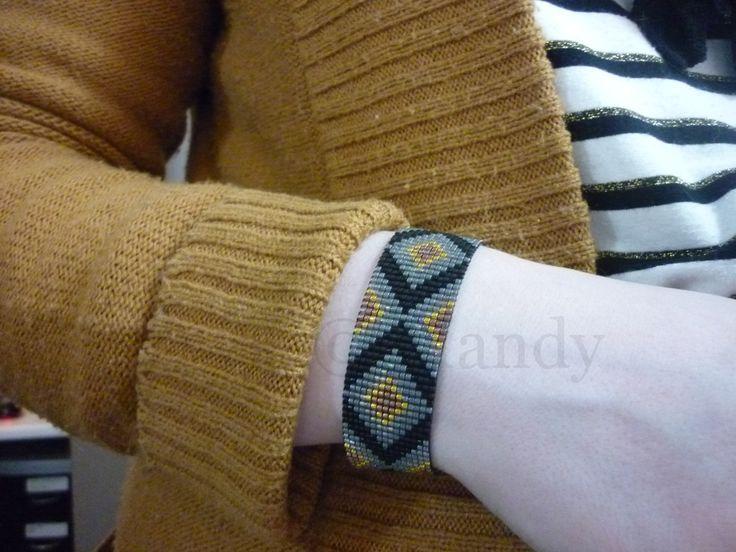 Handgeweven kralenarmbandje Miyuki armband holiday feestdagen cadeau gift indianen native hand geweven Loom beaded bracelet geweven beads door MadeByMandyNL op Etsy