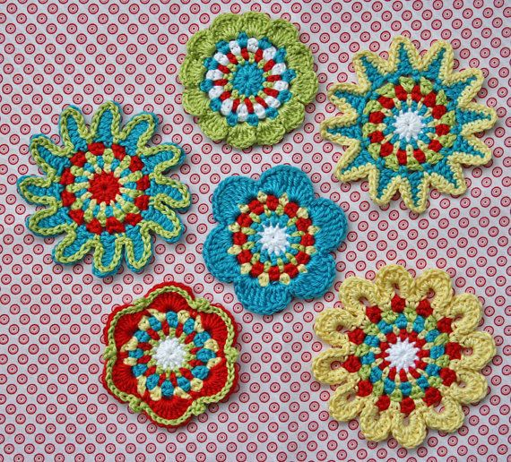 FLORAL MOTIFS  crochet pattern PDF by CAROcreated on Etsy, €4.00