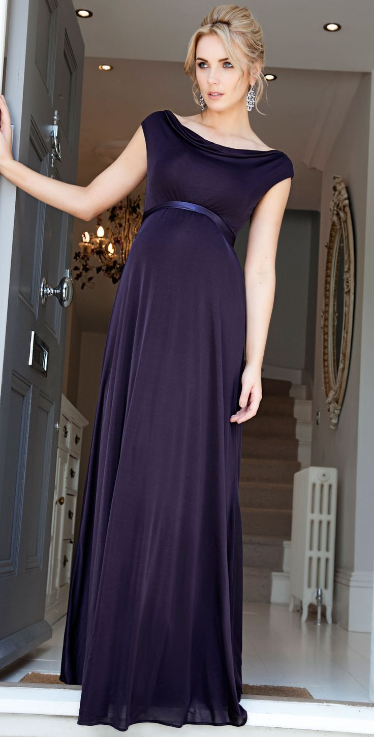 Liberty Maternity Gown (Blackberry) - Maternity Wedding Dresses, Evening Wear and Party Clothes by Tiffany Rose