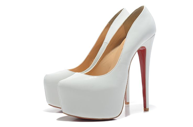 Christian Louboutin 16CM White Patent Leather Pumps | Great boots ...