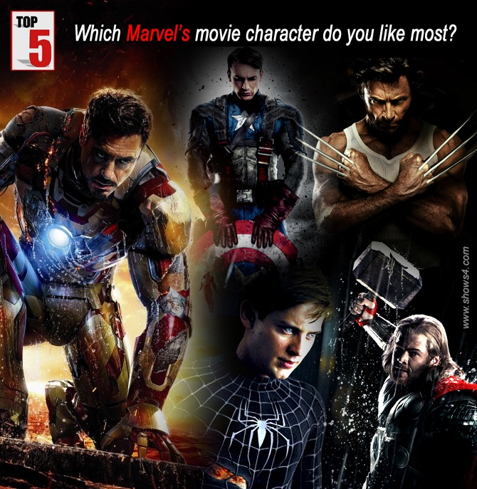 Which Marvel's movie character do you like most?