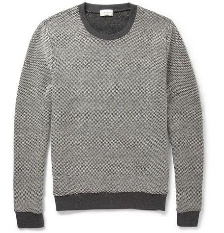 Клуб Монако Реверсивный вязаный шерстяной свитер