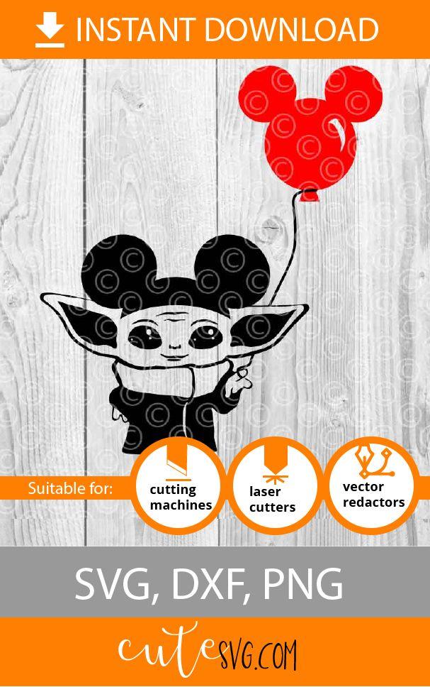 Pin on Baby Yoda SVG Cut files DIY