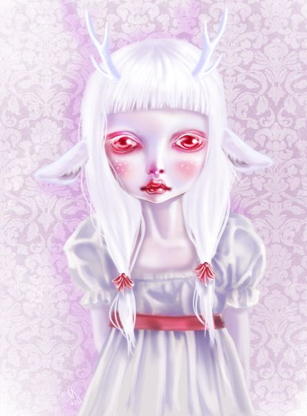 Albino by ~mai-coh on deviantART