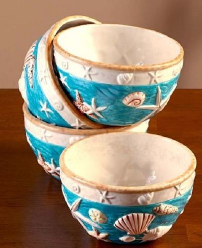 Casual-Dinnerware-Cottage-Seashell-Nautical-Dishes-Beach-Dinner-Plates-Bowls-Mug