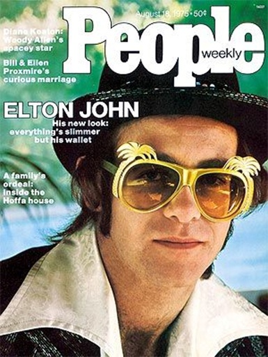 People Magazine Cover 1976 ~ Elton John ~ Music of the 70's.  Crocodile Rock, Benny and the Jets, Lucy in the Sky with Diamonds...