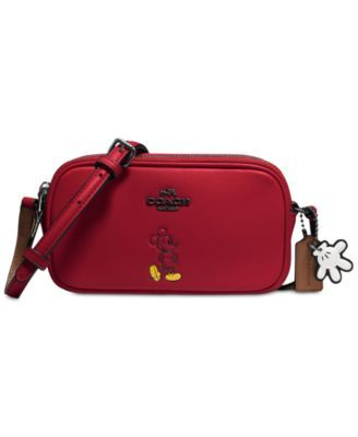 COACH Boxed Mickey Crossbody Pouch in Calf Leather | macys.com