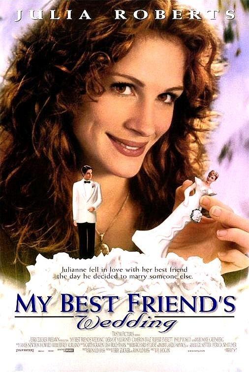 Nos gustan las comedias románticas. Esta es de las mejores, un clásico del siglo XX: La Boda de mi mejor Amigo (1997) con Julia Robert, la ex-novia de América!