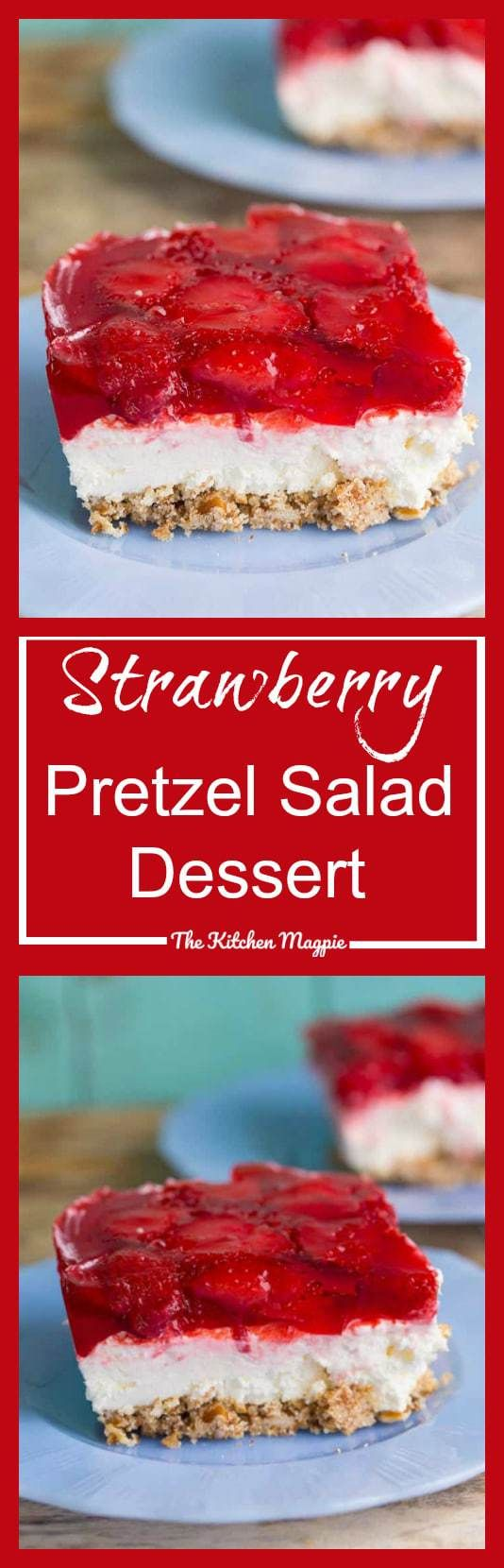 This strawberry pretzel salad (or strawberry pretzel dessert) is a retro party favourite! Make this for your next party, your guests will love it!