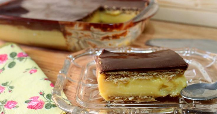 Tarta de galletas y flan - Recetas Fáciles Reunidas