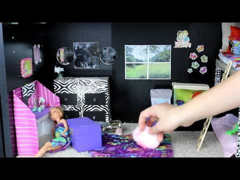 Custom Barbie House with Homemade Toys - YouTube