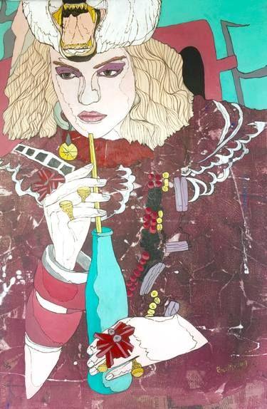 "Saatchi Art Artist BERLIN -D-; Painting, ""Blue society"" #art"