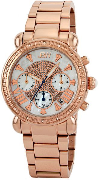 8686d06aa JBW Victory Ladies 16 Diamonds Gold Tone Chronograph Stainless Steel Band  Watch [JB-6210-K] | Amazing products from souq | Stainless steel bracelet,  ...