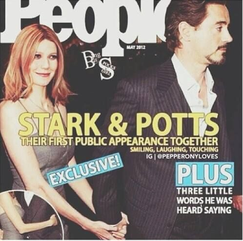 Tony and Pepper: PEOPLE Magazine cover. (By MediAvengers)
