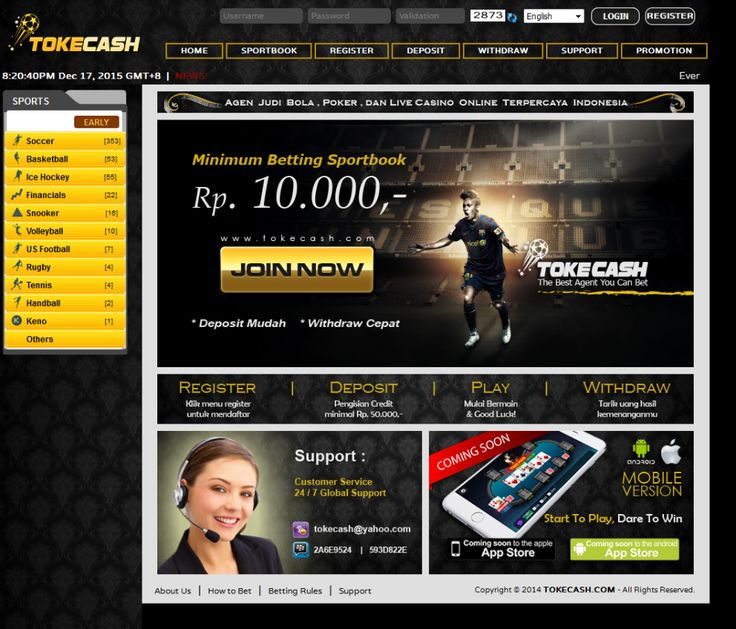 Tokecash.com Agen Bola Sbobet Online Terpercaya Indonesia