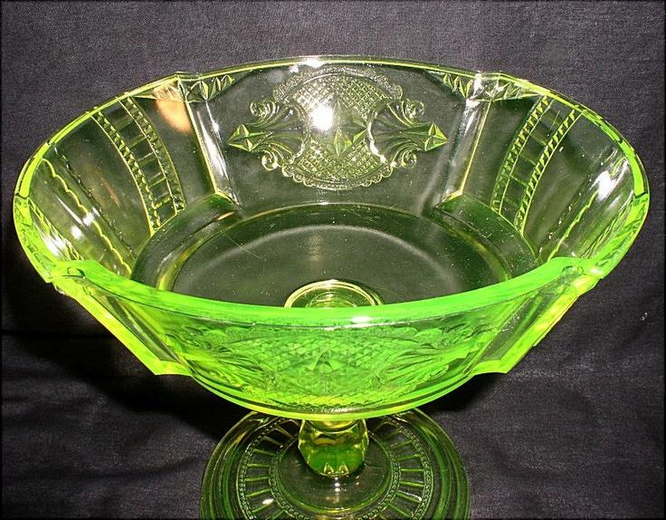 17 Best Images About Uranium Glass On Pinterest Glass