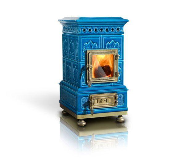 Ceramic wood stoves by La Castellamonte. I want one!!!!
