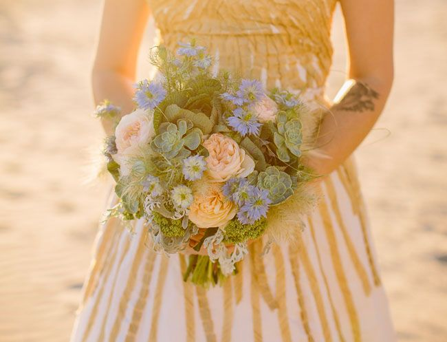 Bohemian Watercolor Wedding Inspiration | Green Wedding Shoes Wedding Blog | Wedding Trends for Stylish + Creative Brides