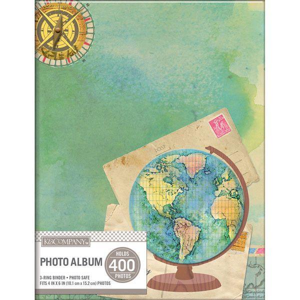 KandCompany 2Up Binder Photo Album Travel Map