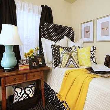 Black And White And Yellow Bedroom 56 best yellow rooms images on pinterest | yellow rooms, yellow
