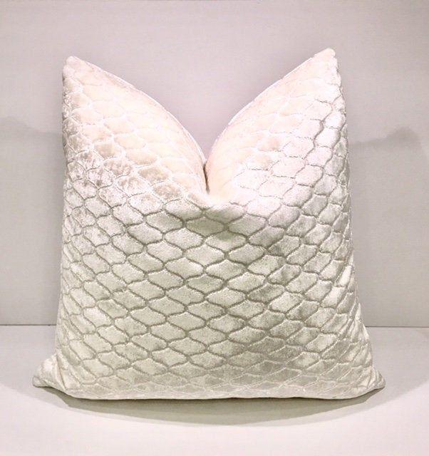 luxury cream velvet pillow cover cream
