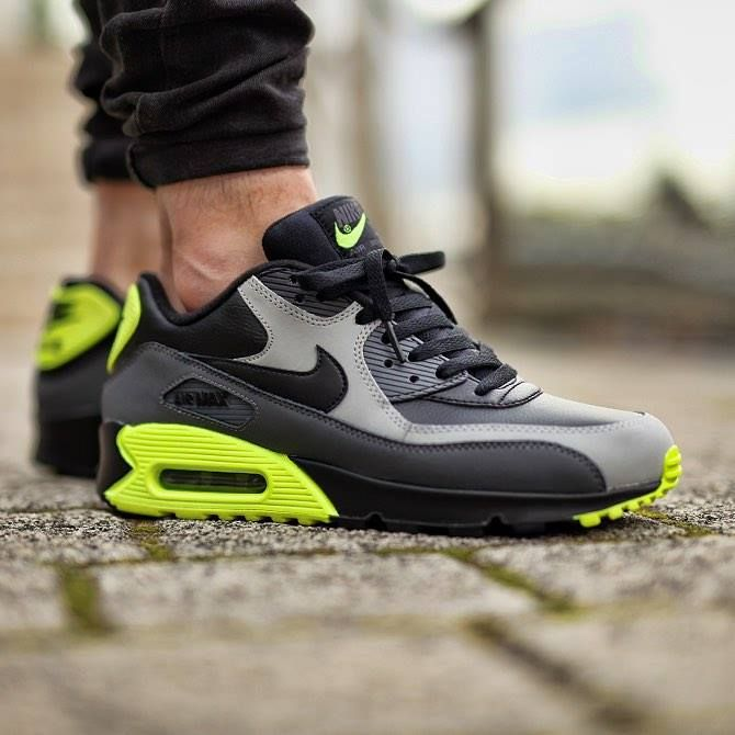 Nike Air Max 90 LTR Grey Volt http://ift