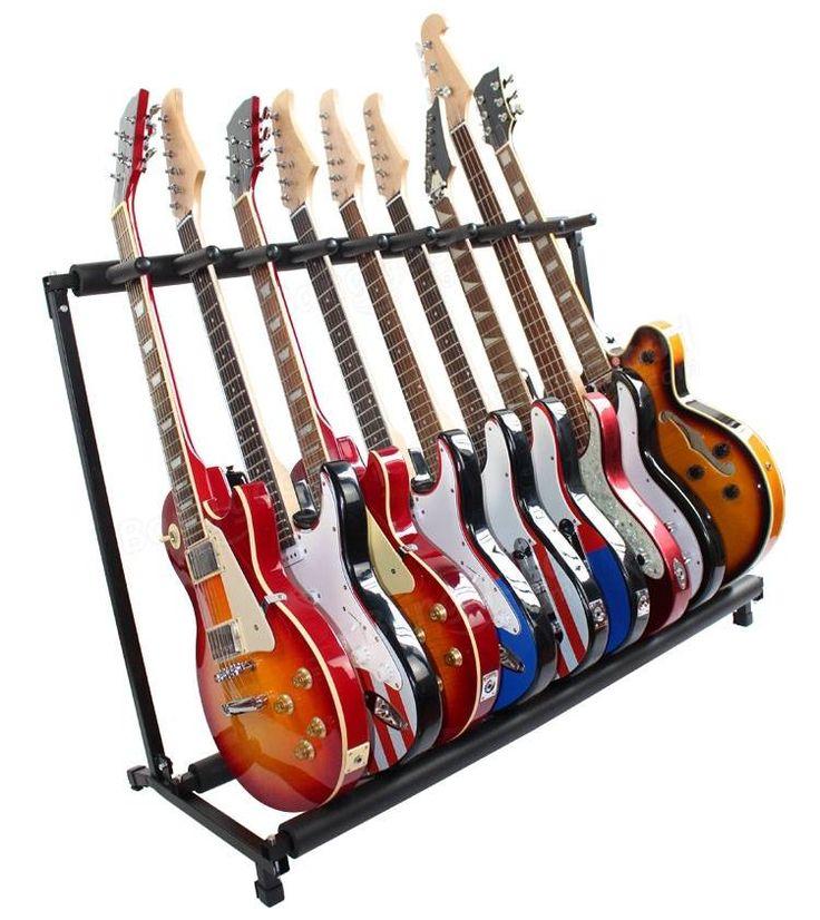 GS-9 titular de la guitarra multifuncional instrumento musical de la guitarra estante plegable