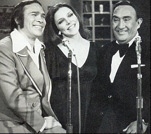 Pedro Vargas y Carlos Lico con Verónica Castro