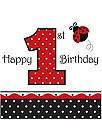 Ladybug 1st Birthday - Ladybug 1st Birthday Party Supplies at Birthday in a Box