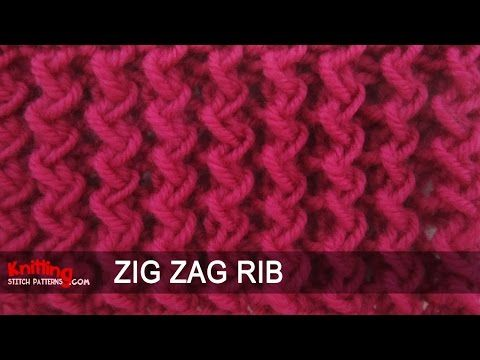 Zig Zag Rib Stitch - YouTube
