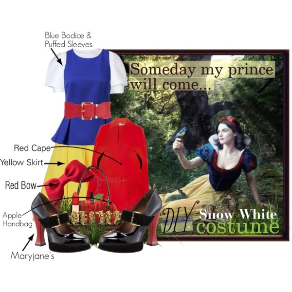 """""""DIY Snow White Costume"""" by lisabedow on Polyvore"""