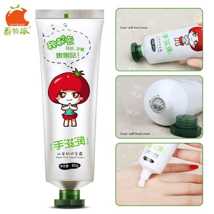 TOMATO PIE 80G Goat Milk Hand Cream Portable Size Whitening Firming Skin Moisturizing Exfoliate Hand Skin Care White