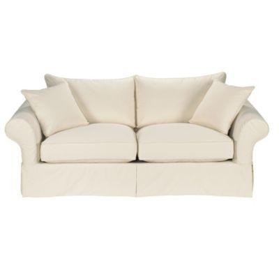 Twill Khaki-Vintage Vogue Sofa Slipcover - Special Order Fabrics