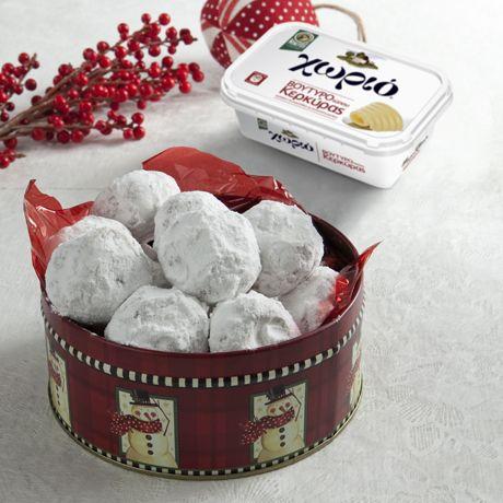 Ένα παραδοσιακό γλυκό που δεν λείπει από κανένα χριστουγεννιάτικο τραπέζι. Για πλούσιο άρωμα χρησιμοποιούμε Χωριό βούτυρο τύπου Κερκύρας.