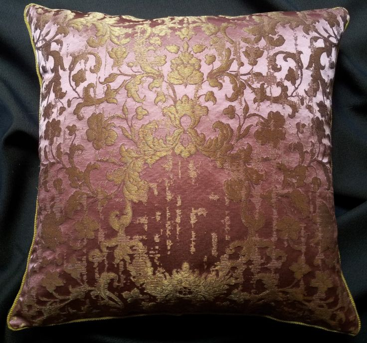 Pink & Gold Silk Jacquard Rubelli Fabric Throw Pillow Cushion Cover Les Indes Galantes Pattern - Handmade in Italy by OggettiVeneziani on Etsy