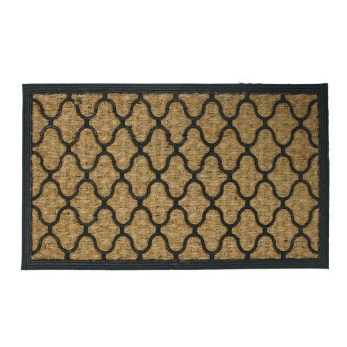 """""""Harmonious Garden"""" Outdoor Coco Doormat - 18"""" x 30"""" Decorative Rubber Entry Mat by Rubber-Cal. $34.90. These coir door mats are ideal for use in home entryways!. Trap dirt and moisture and protect home floors with this decorative doormat. Shake, brush or rinse these rubber coco doormats for easy cleaning. Rubber door mats made with recycled rubber and 100% natural coir fiber. These eco-friendly entrance door mats make for ideal home doorway accessories!. These coir door mats ..."""