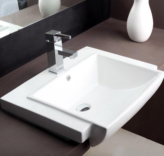 Buy Hindware Tessa Semi Recessed Basin-91055 in Washbasins through online at NirmanKart.com