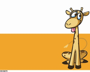 Giraffe Cartoon PowerPoint - Great for outback and wildlife presentations but don't be fooled by this crazy looking Giraffe because you can still use this template on many other purposes.
